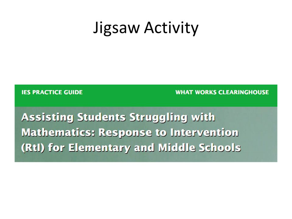 Jigsaw Activity