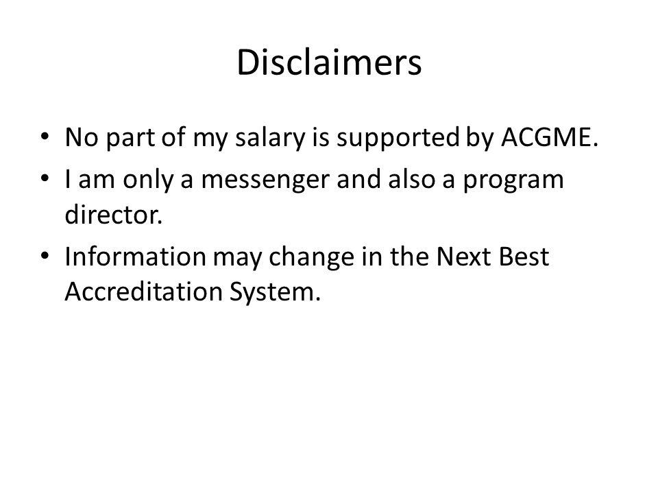 Program Considerations for the Annual Evaluation.