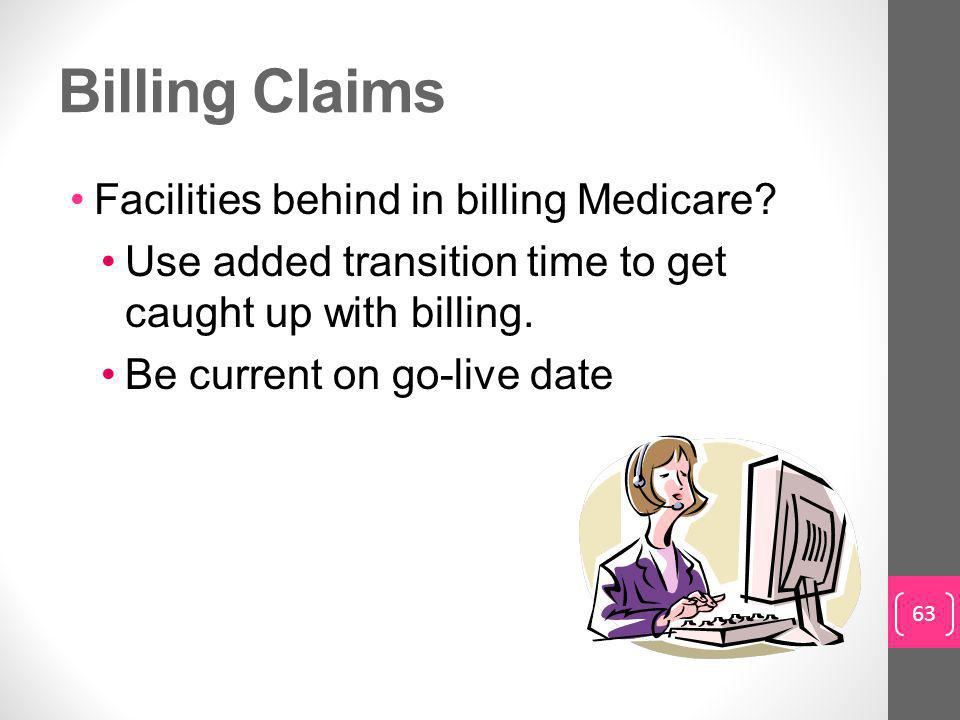 Billing Claims Facilities behind in billing Medicare.
