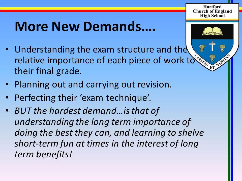 More New Demands….