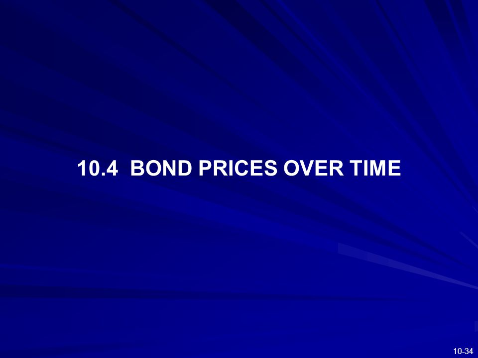 10-34 10.4 BOND PRICES OVER TIME