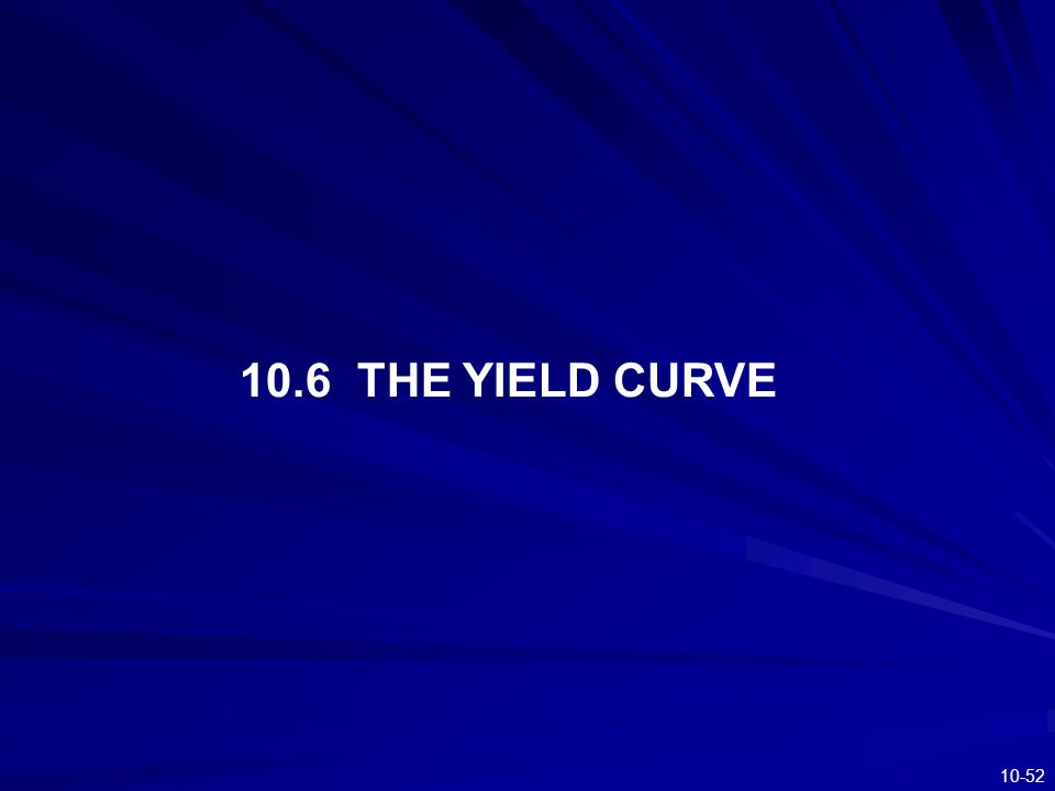 10-52 10.6 THE YIELD CURVE