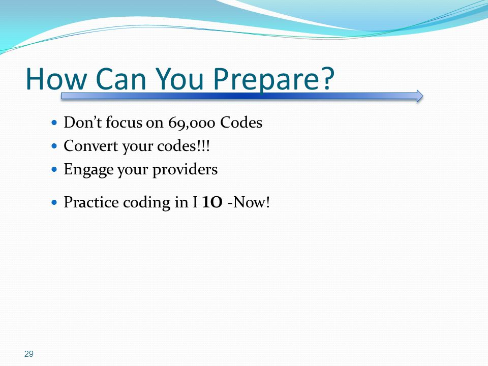 How Can You Prepare.Don't focus on 69,000 Codes Convert your codes!!.
