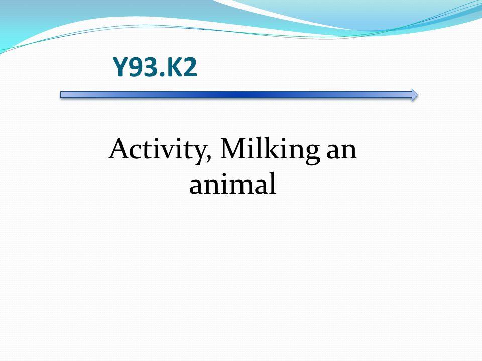 Y93.K2 Activity, Milking an animal