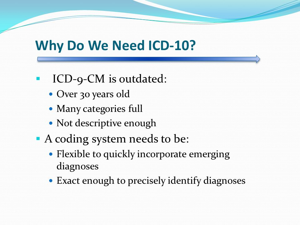 Why Do We Need ICD-10.