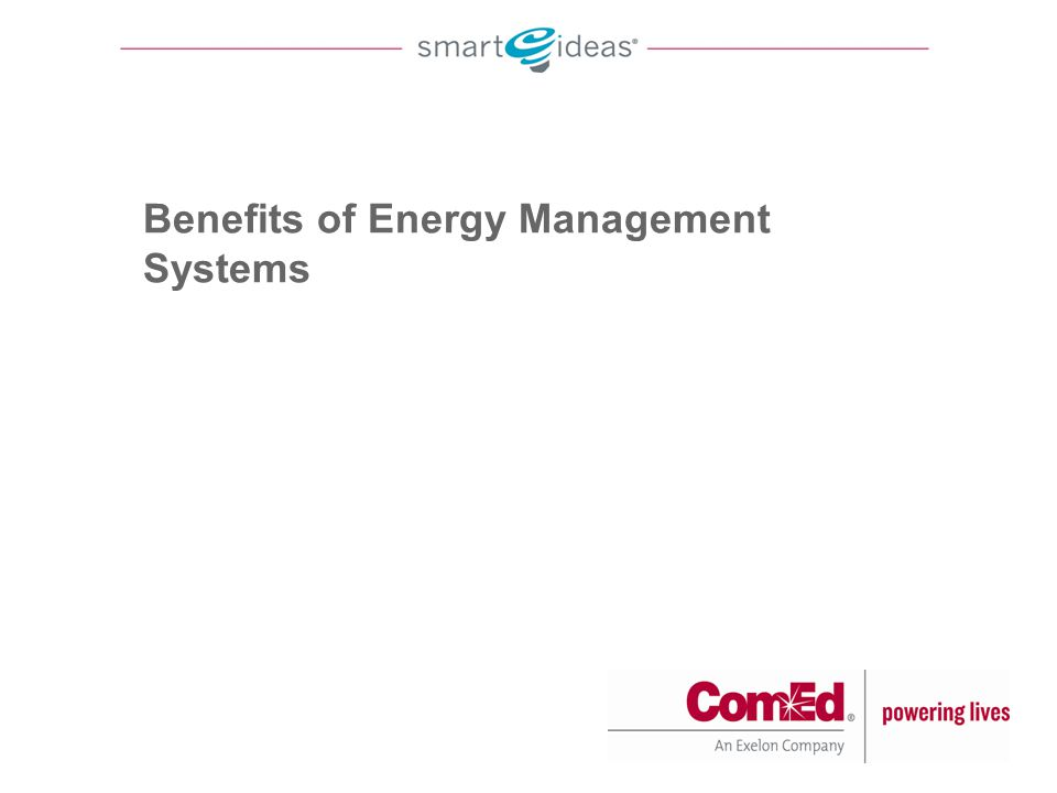 Benefits of Energy Management Systems