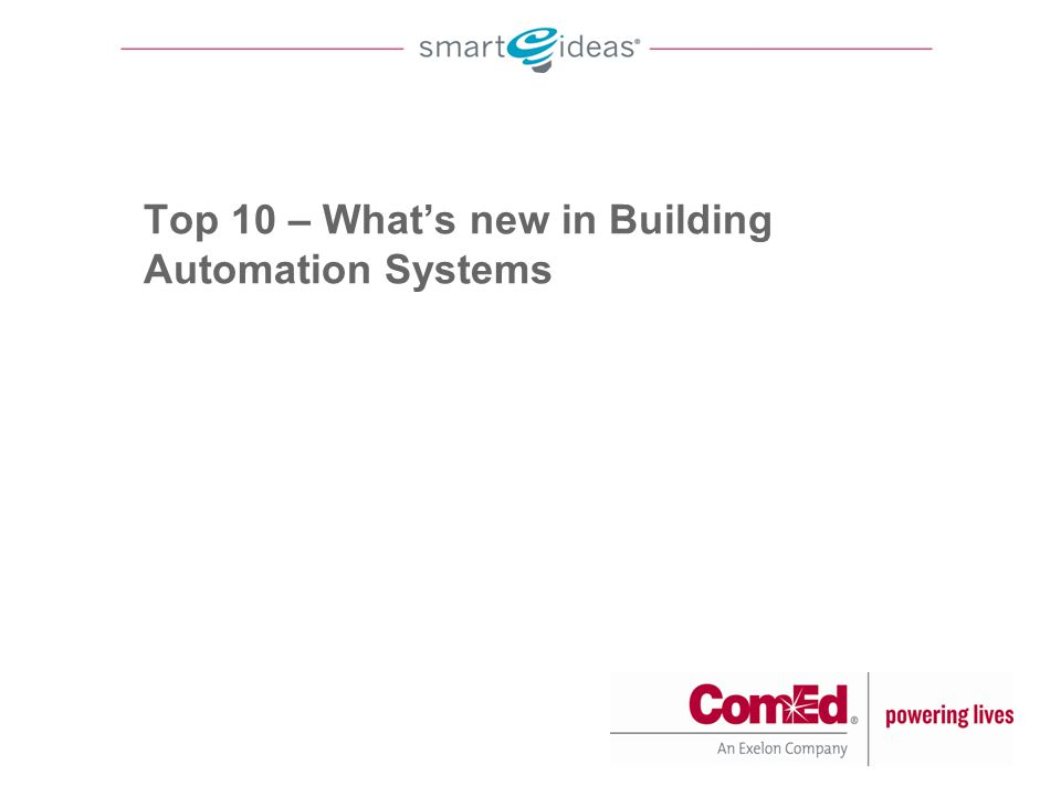 Top 10 – What's new in Building Automation Systems
