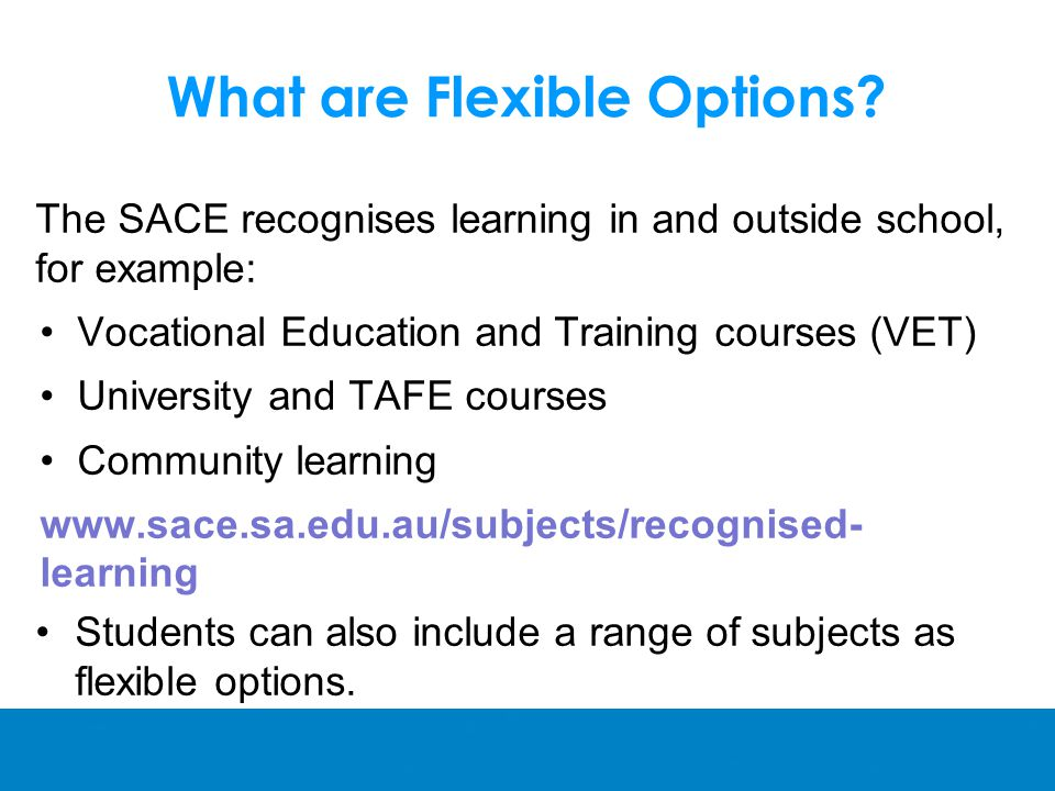 What are Flexible Options.
