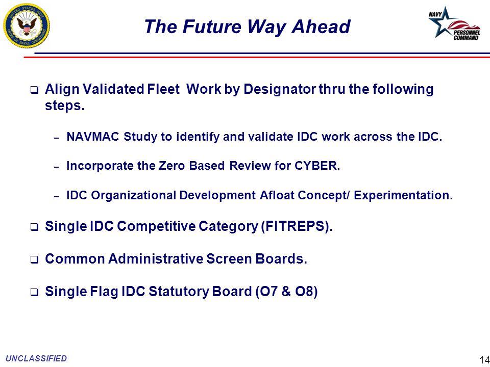 The Future Way Ahead  Align Validated Fleet Work by Designator thru the following steps.