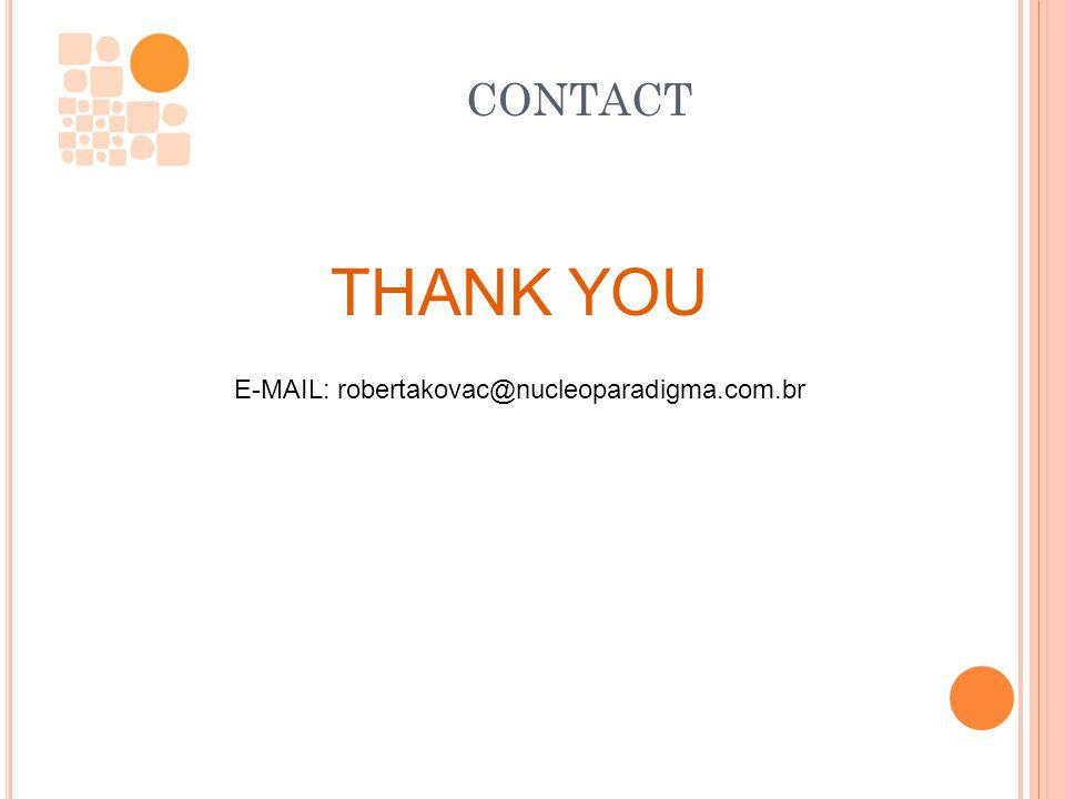 www.nucleoparadigma.com.brwww.nucleoparadigma.com.br contato@nucleoparadigma.com.brcontato@nucleoparadigma.com.br CONTACT THANK YOU E-MAIL: robertakov
