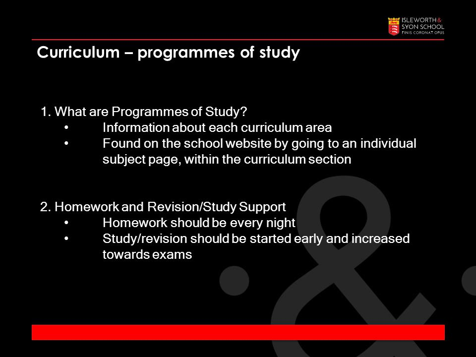 1. What are Programmes of Study.