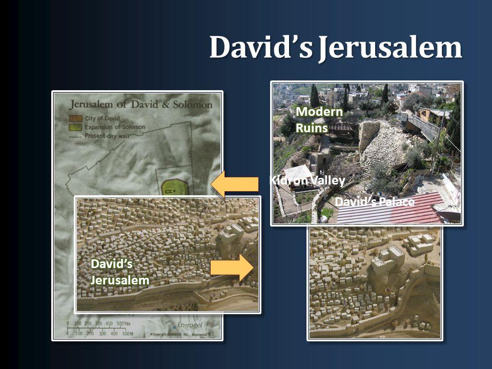 David's Jerusalem Kidron Valley David's Palace