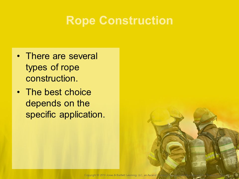 Rope Construction There are several types of rope construction. The best choice depends on the specific application.