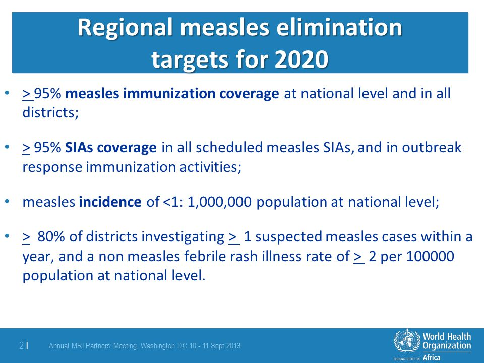 Measles SIAs in 2014 14 countries (incl.