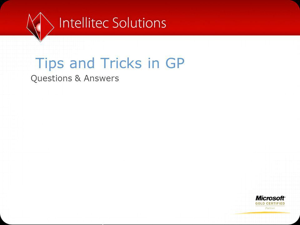 Tips and Tricks in GP Questions & Answers