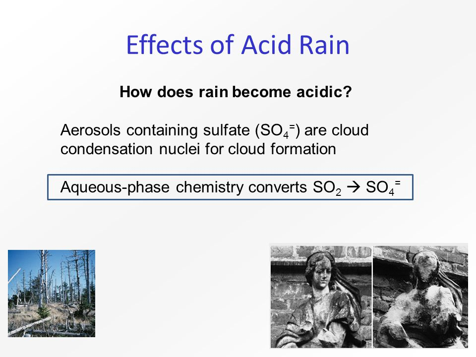 Effects of Acid Rain How does rain become acidic.