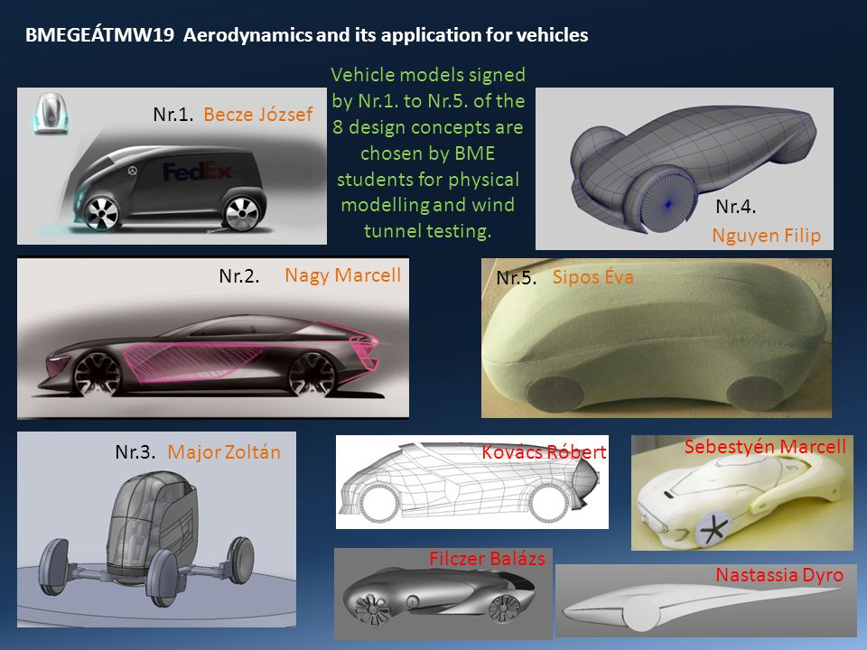 BMEGEÁTMW19 Aerodynamics and its application for vehicles Nr.5.