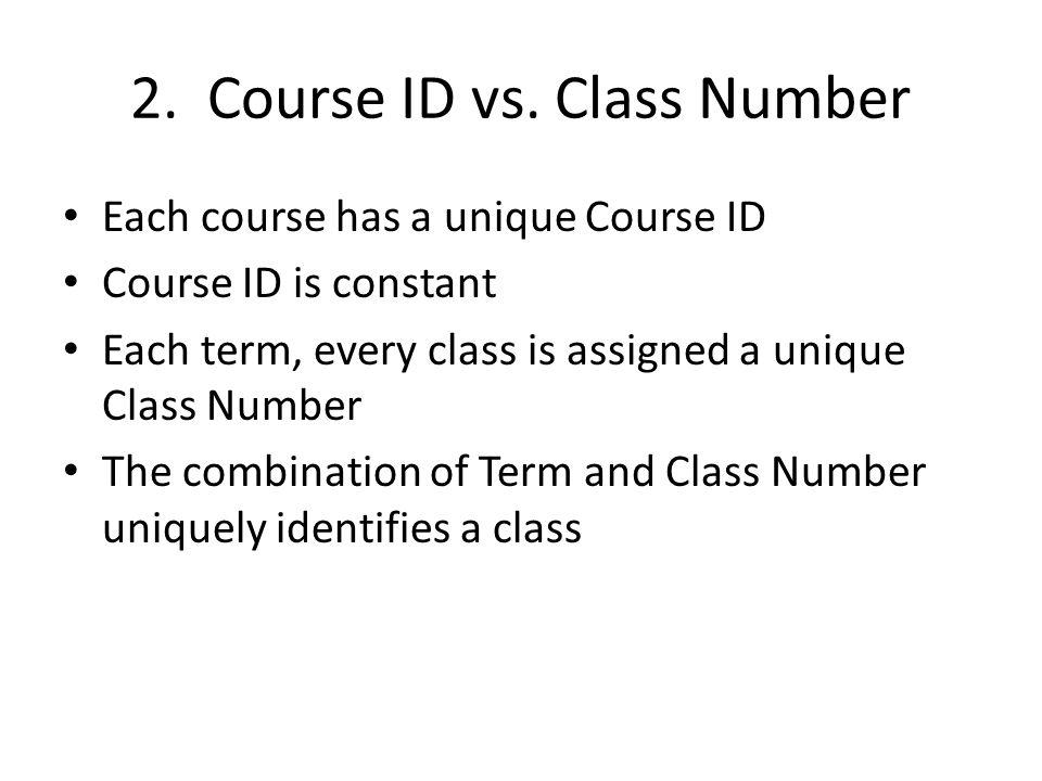 2. Course ID vs.