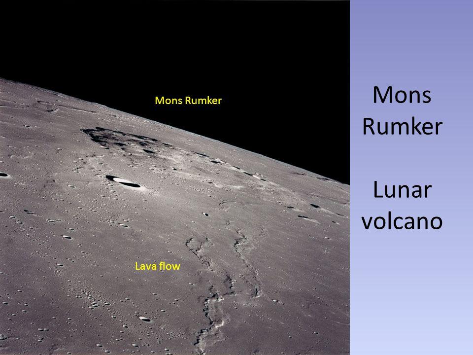 Mons Rumker Lunar volcano Mons Rumker Lava flow