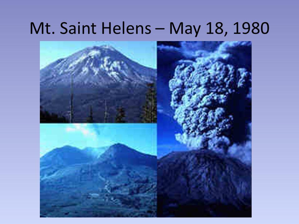 Mt. Saint Helens – May 18, 1980