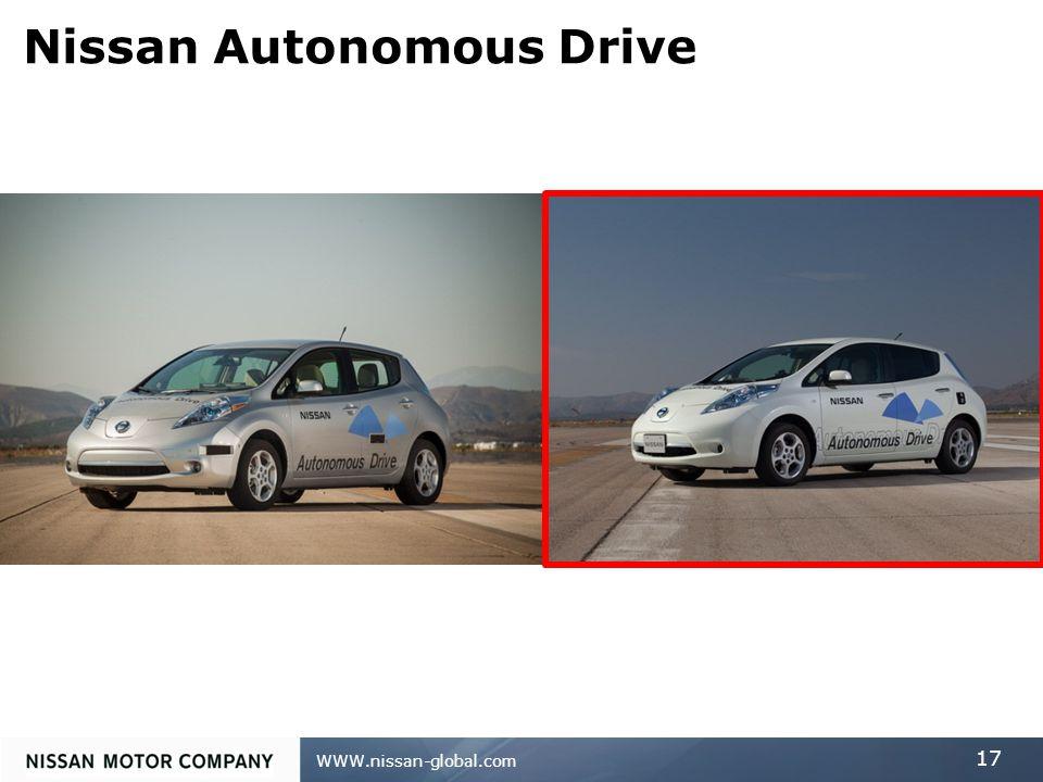 WWW.nissan-global.com 17 Nissan Autonomous Drive