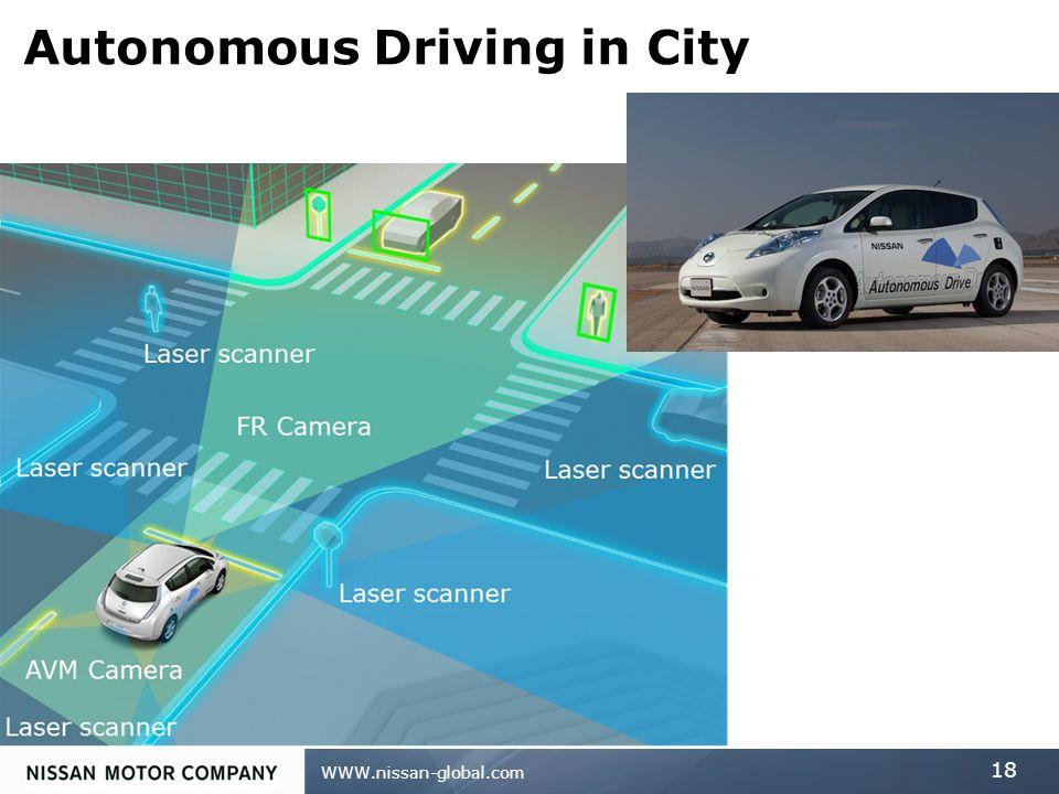 WWW.nissan-global.com 18 Autonomous Driving in City