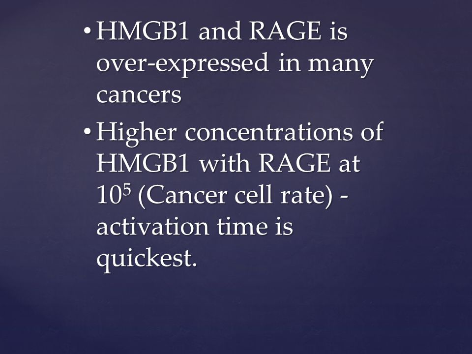 CE activates soonest with higher overall concentrations of HMGB1 and RAGE CE activates soonest with higher overall concentrations of HMGB1 and RAGE As RAGE is reduced and our ligand HMGB1 is still at high concentrations first activation of CE is delayed As RAGE is reduced and our ligand HMGB1 is still at high concentrations first activation of CE is delayed RAGE expression appears to have the greater impact on CE first activation RAGE expression appears to have the greater impact on CE first activation Below around 600 RAGE there is no activation of CE even with a very high HMGB1 Below around 600 RAGE there is no activation of CE even with a very high HMGB1 Conclusions