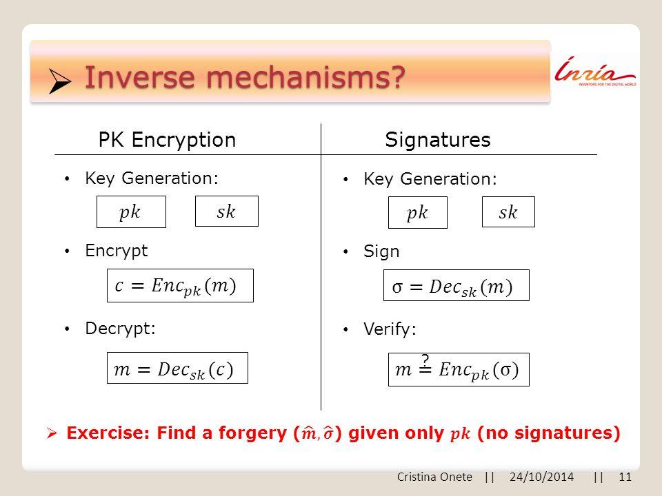  Inverse mechanisms.