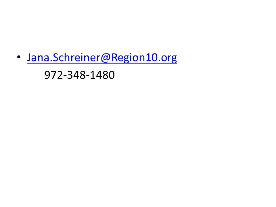 Jana.Schreiner@Region10.org 972-348-1480