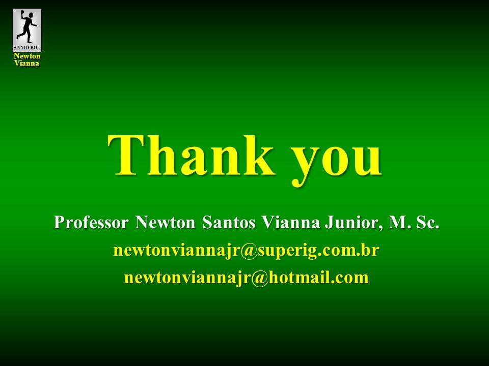 HANDEBOL Newton Vianna Newton Vianna Thank you Professor Newton Santos Vianna Junior, M. Sc. newtonviannajr@superig.com.brnewtonviannajr@hotmail.com