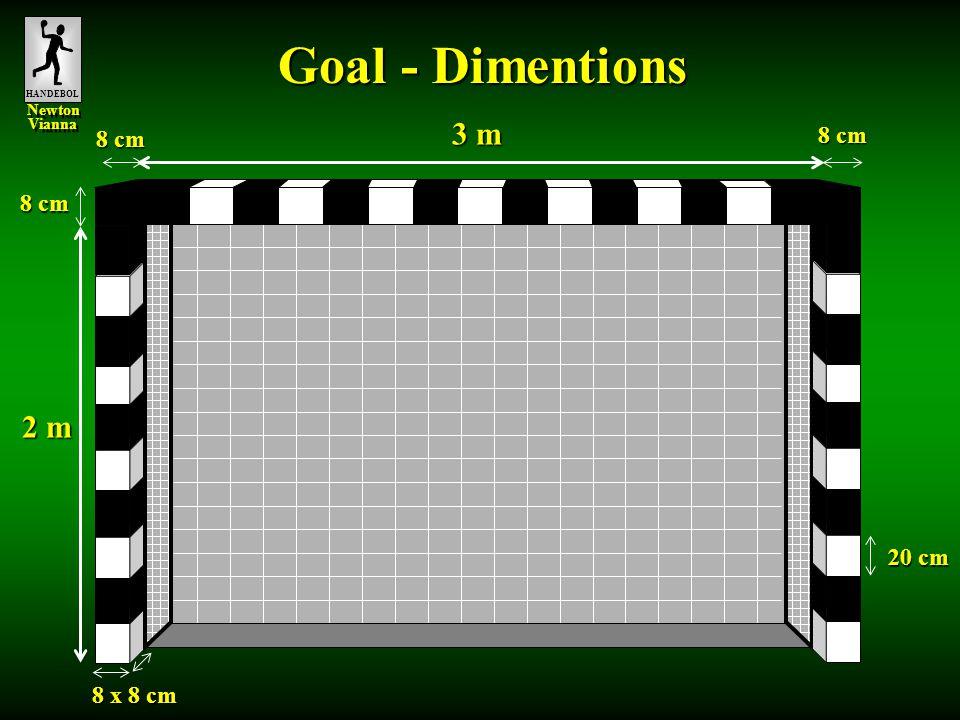 HANDEBOL Newton Vianna Newton Vianna 8 x 8 cm 20 cm 3 m 8 cm 2 m 8 cm Goal - Dimentions