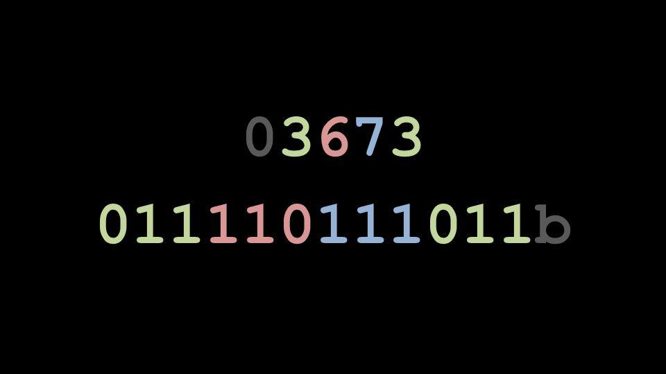 03673 011110111011b