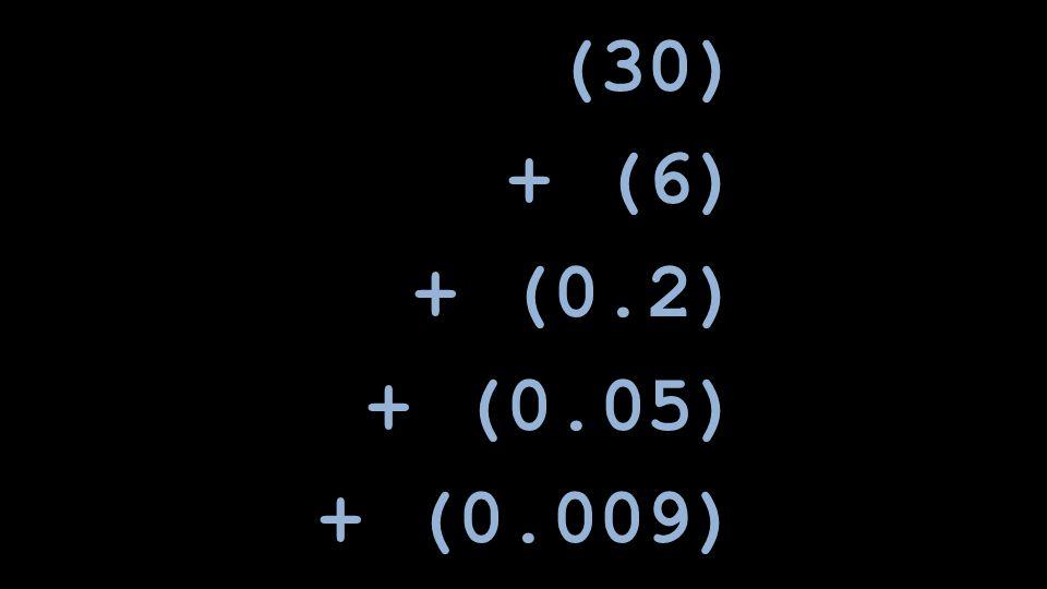 (30) + (6) + (0.2) + (0.05) + (0.009)