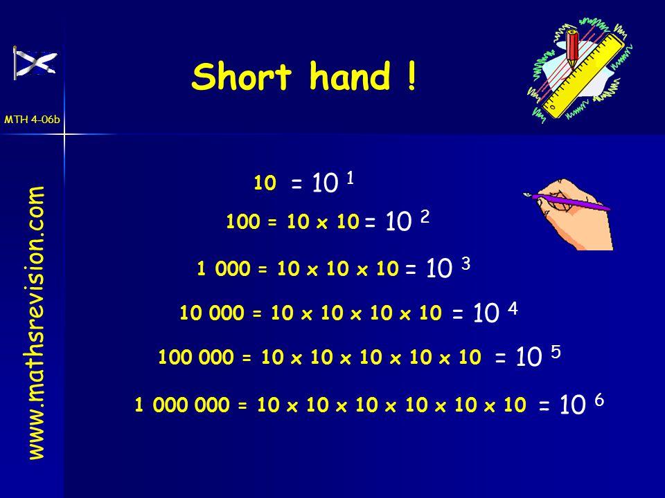 Short hand .