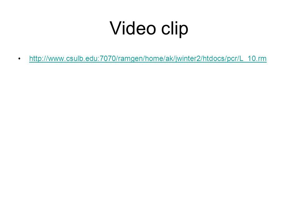 Video clip http://www.csulb.edu:7070/ramgen/home/ak/jwinter2/htdocs/pcr/L_10.rm