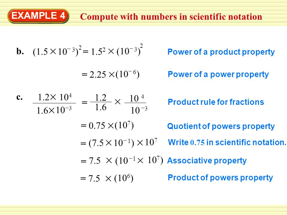 Compute with numbers in scientific notation EXAMPLE 4 b.