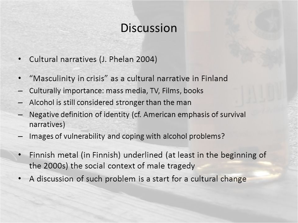 Discussion Cultural narratives (J.