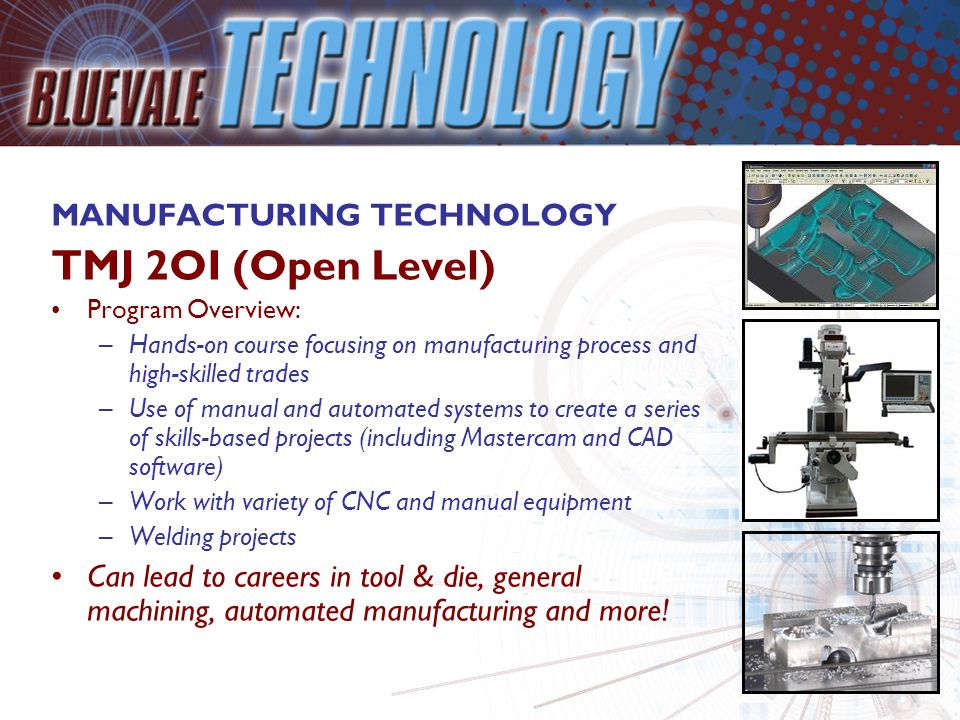 TECHNOLOGICAL DESIGN TDJ 2OI (Open Level) Program Overview: –Course focuses on hands-on skills development related to the fields of engineering, drafting, computer-assisted design and architecture –Learn through simulations, model-building, computer-based projects, individual and team activities –High-level problem solving and project management skills Thinking about a job in Engineering.