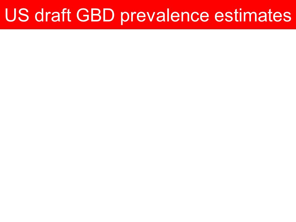 US draft GBD prevalence estimates