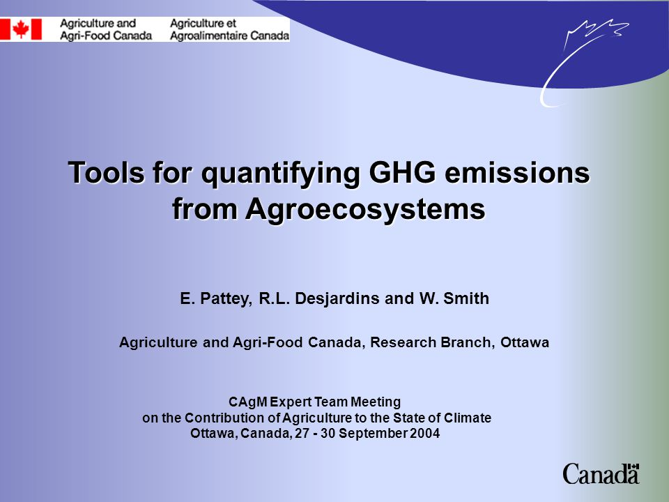 ECOSYS Grant, R.and Pattey, E., 2003.