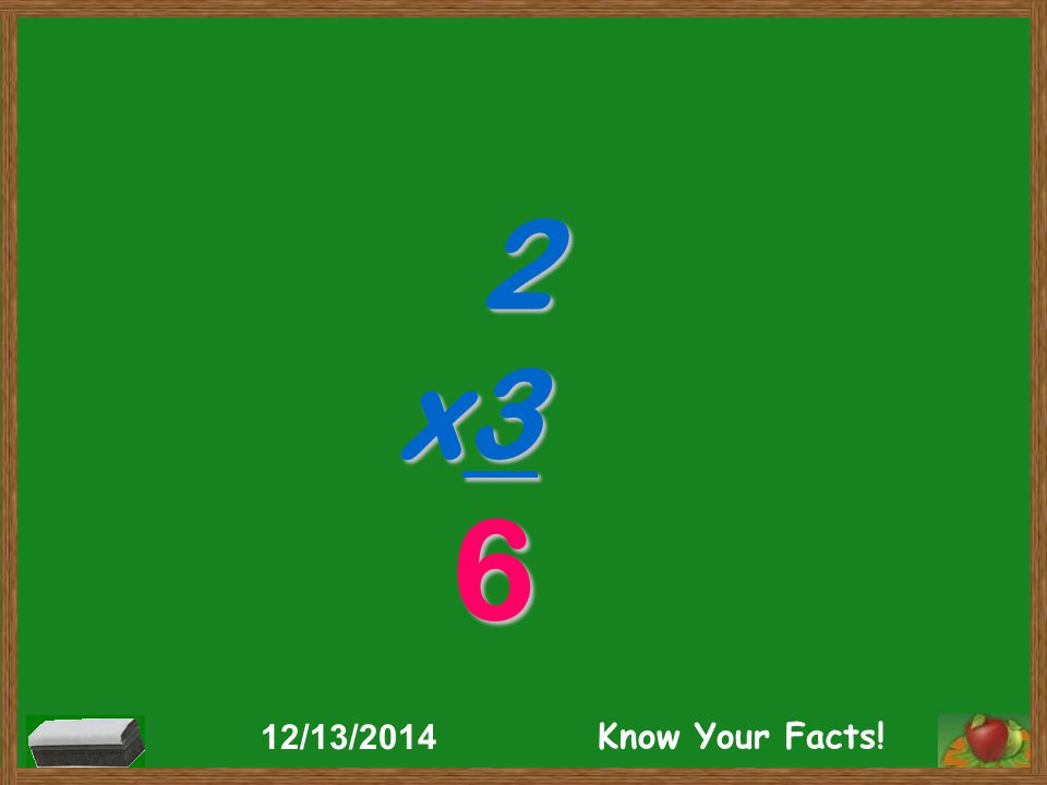 2 x3 6 12/13/2014 Know Your Facts!
