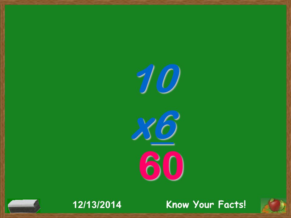 10 x6 60 12/13/2014 Know Your Facts!