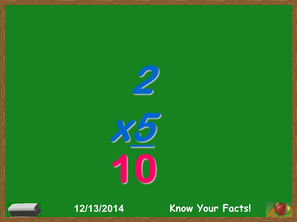 2 x5 10 12/13/2014 Know Your Facts!
