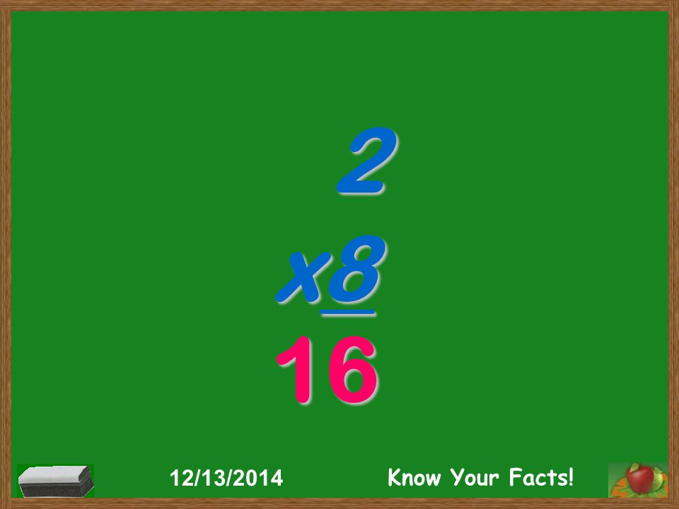 2 x8 16 12/13/2014 Know Your Facts!