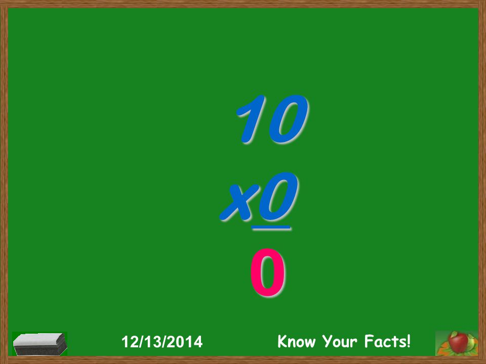 10 x0 0 12/13/2014 Know Your Facts!