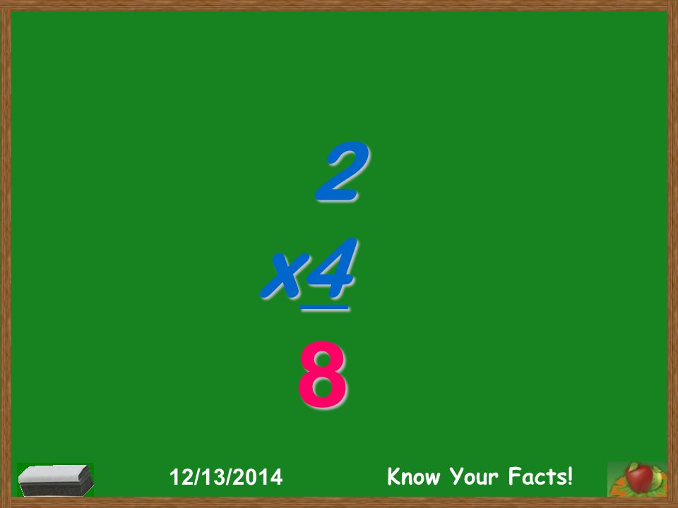 2 x4 8 12/13/2014 Know Your Facts!