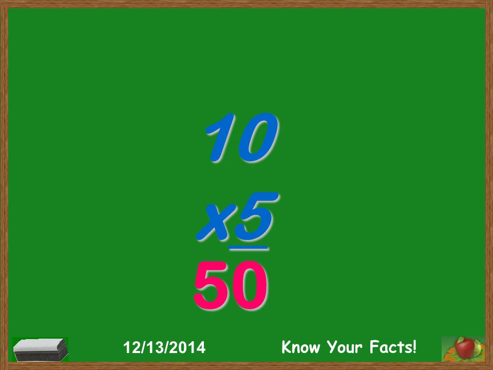 10 x5 50 12/13/2014 Know Your Facts!
