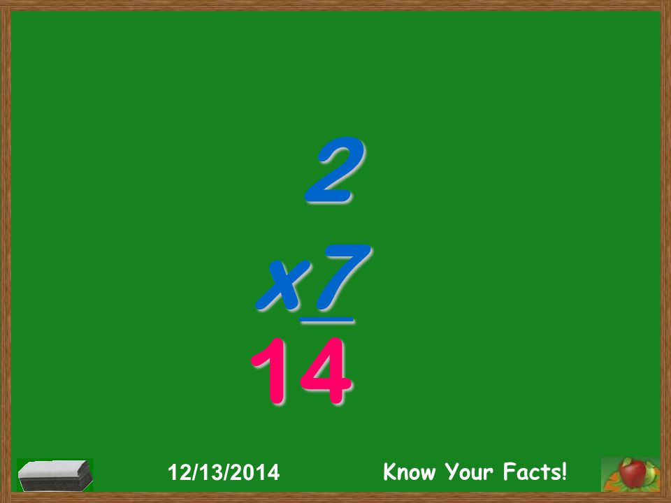 2 x7 14 12/13/2014 Know Your Facts!