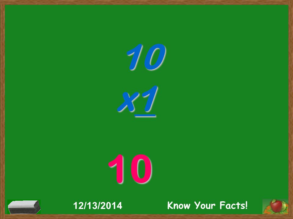 10 x1 10 12/13/2014 Know Your Facts!