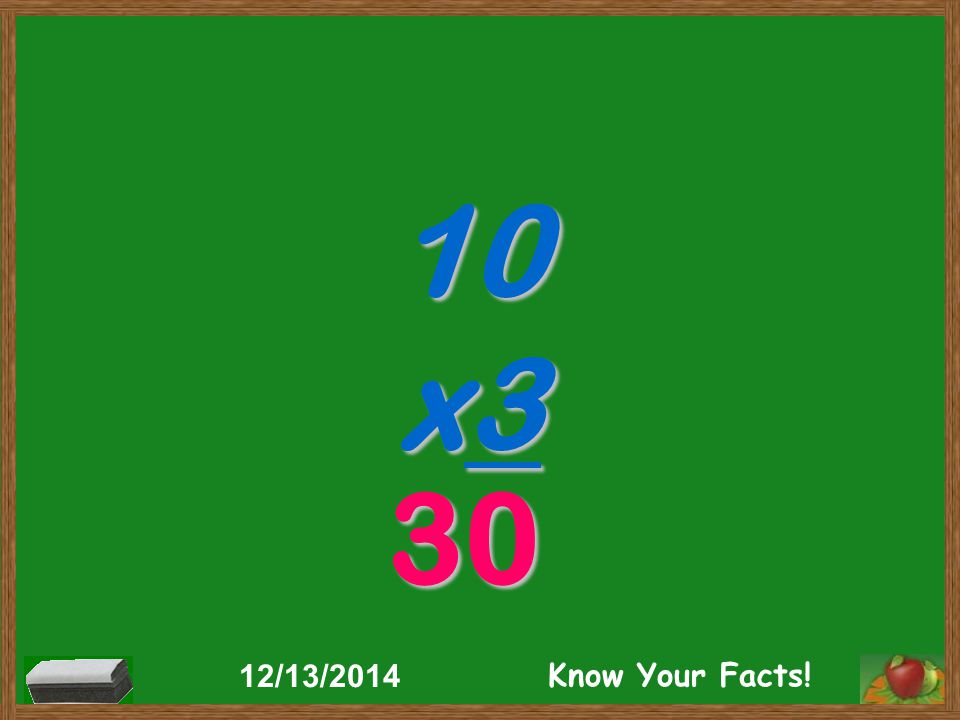 10 x3 30 12/13/2014 Know Your Facts!